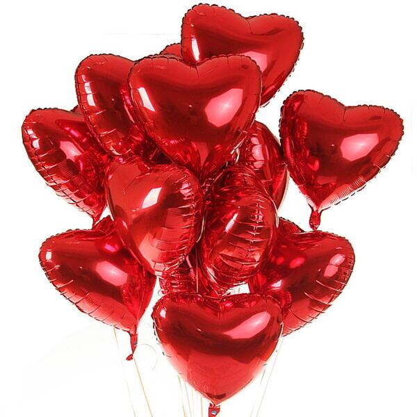 шары красные сердце