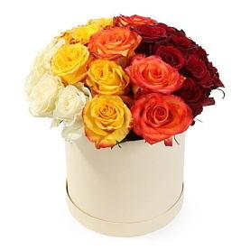 коробка роз