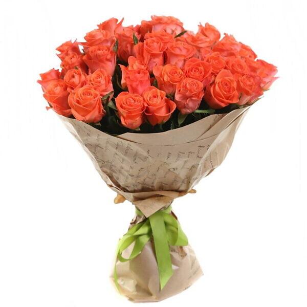 51 оранжевая роза