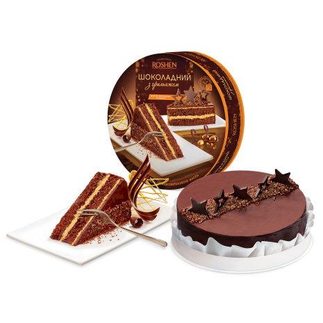 торт Рошен шоколадный с грильяжем